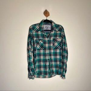 2/$40 Jack & Jones Flannel Shirt Button Up Plaid